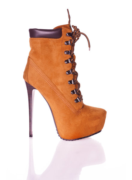 Giaro TIMBA | BROWN SUEDE | HIGH HEEL PLATFORM ANKLE BOOTS