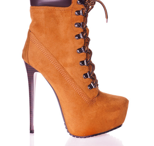CoCo TIMBA | BROWN SUEDE | HIGH HEEL PLATFORM ANKLE BOOTS