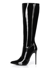 Giaro ZIRA | BLACK SHINY | KNEE BOOTS