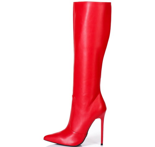 Giaro ZIRA | RED MATTE | KNEE BOOTS