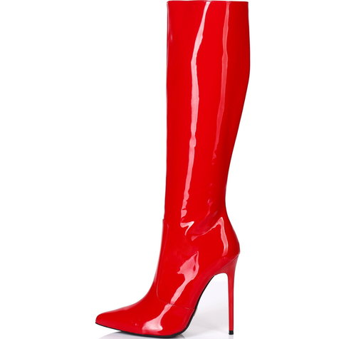 Giaro ZIRA | RED SHINY | KNEE BOOTS