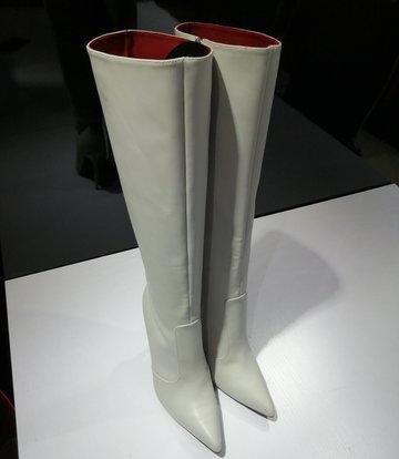 Giaro ZIRA | HELLGRAU | KNIE STIEFEL | Italienischer Stil