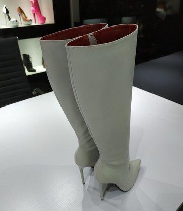 Giaro ZIRA | LIGHT GREY | KNEE BOOTS | Italian Style