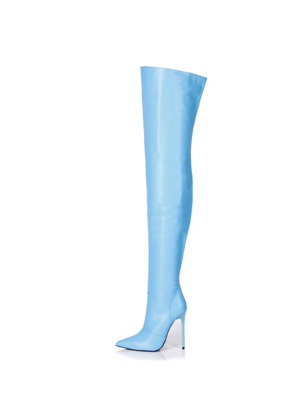 Giaro ZAZU | LIGHTBLUE MATTE | THIGH BOOTS
