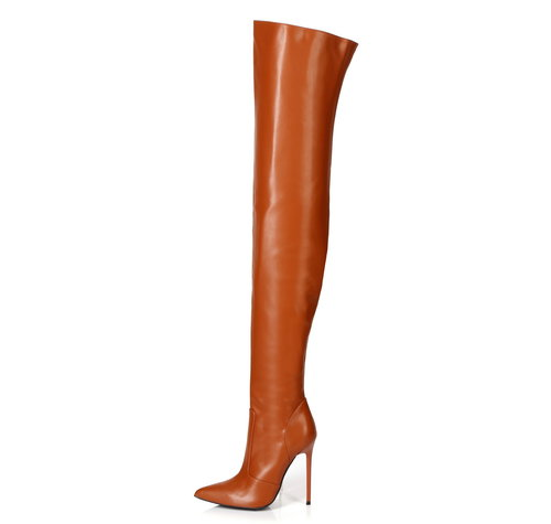 Giaro ZAZU | BROWN MATTE | THIGH BOOTS