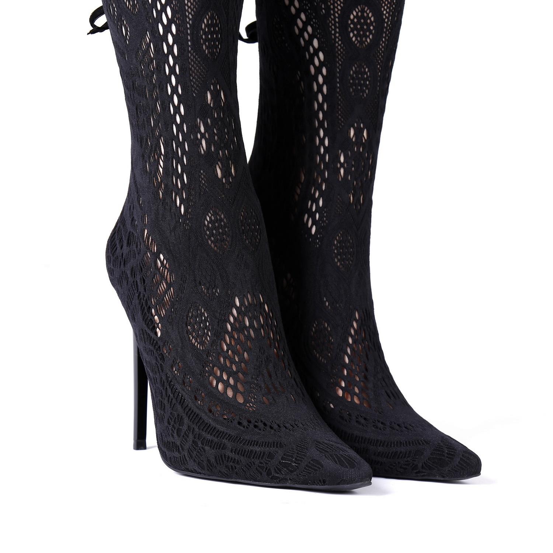 Giaro SARAFINA   BLACK    THIGH BOOTS   Italian Style
