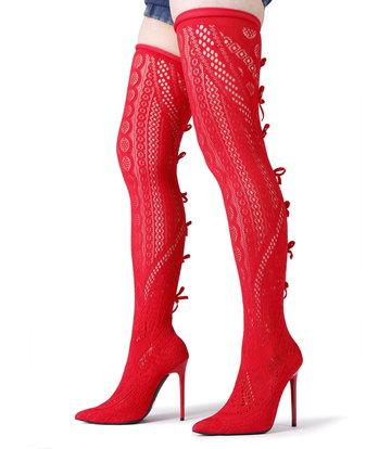 Giaro SARAFINA | RED  | THIGH BOOTS | Italian Style