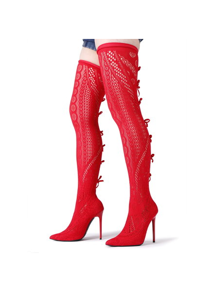 Giaro SARAFINA | RED  | THIGH BOOTS