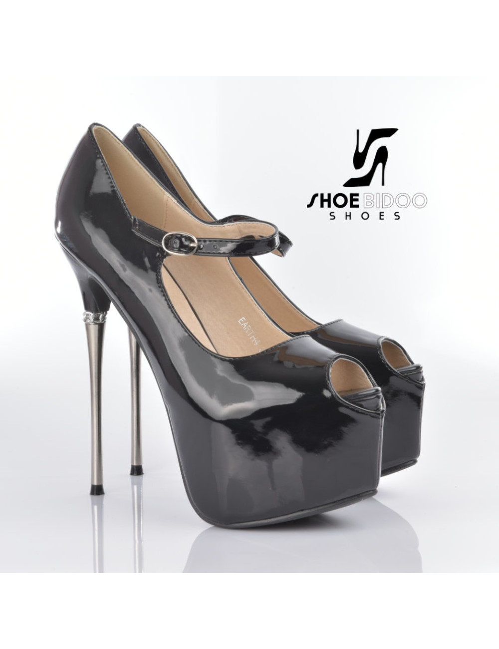 CoCo Earth platform pumps with decorated steel heels