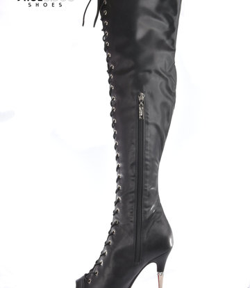 CoCo Mother earth high lace up boots peeptoe