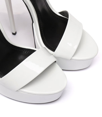 """Giaro White shiny Giaro """"Galana"""" sandals"""