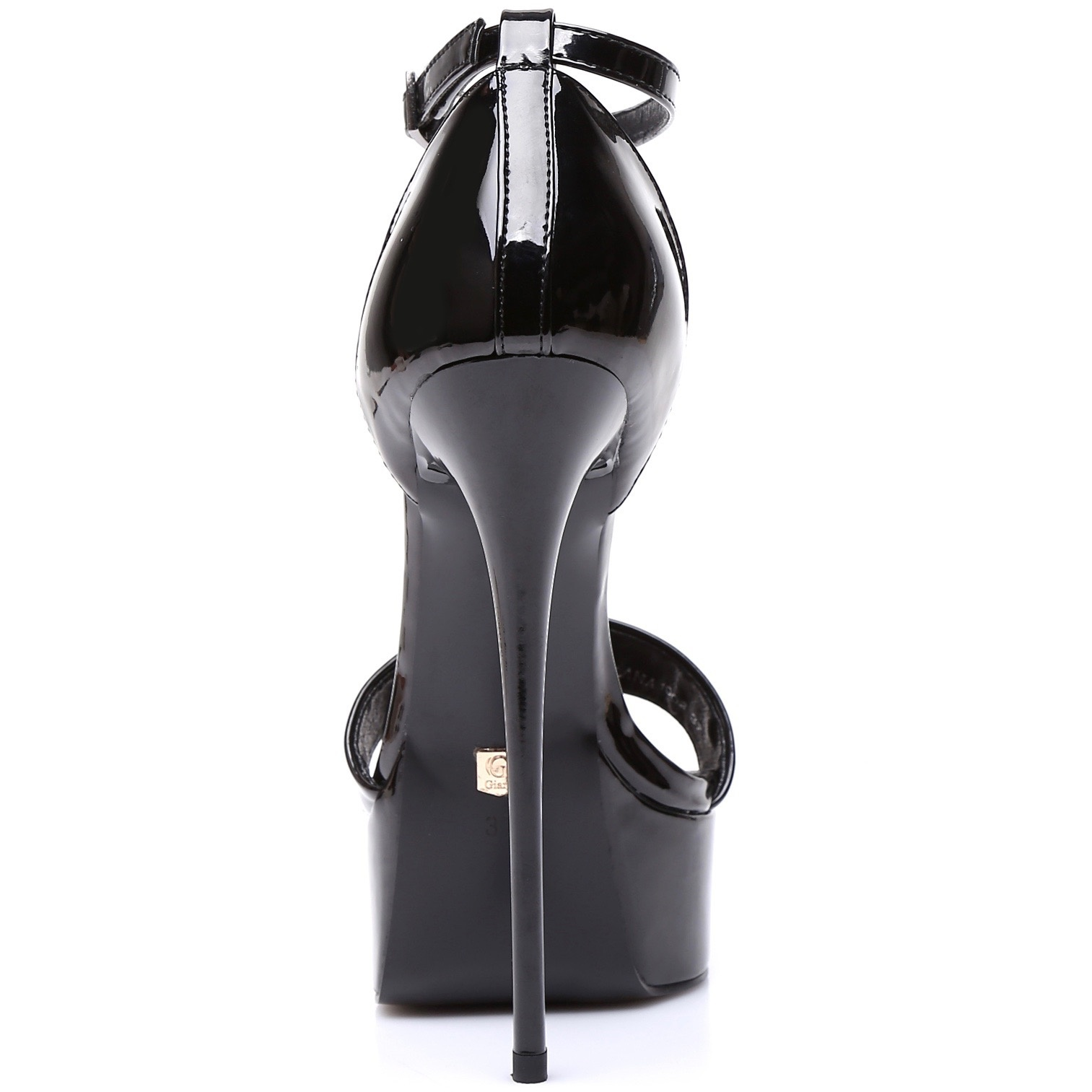 """Giaro Black shiny Giaro """"Galana"""" sandals"""