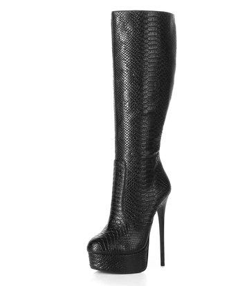 "Giaro Black Snake skin Giaro ultra ""Galana"" knee boots"
