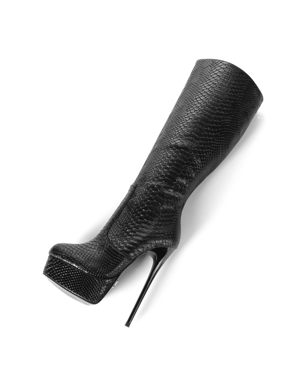 "Giaro Zwarte Snake skin Giaro ultra ""Galana"" knielaarzen"