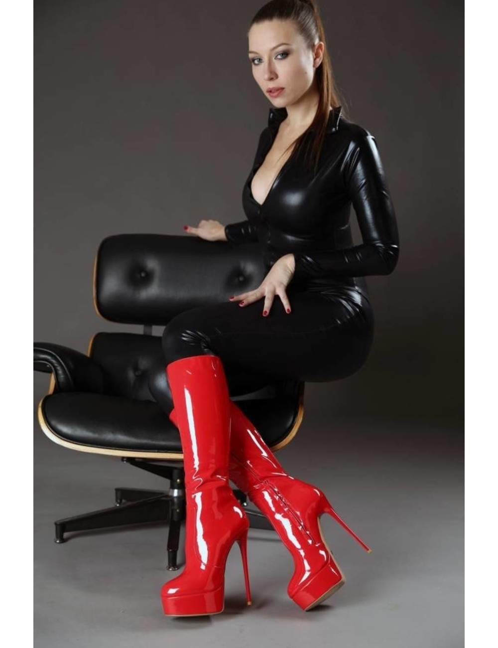 "Giaro Red shiny Giaro ultra ""Galana"" knee boots"