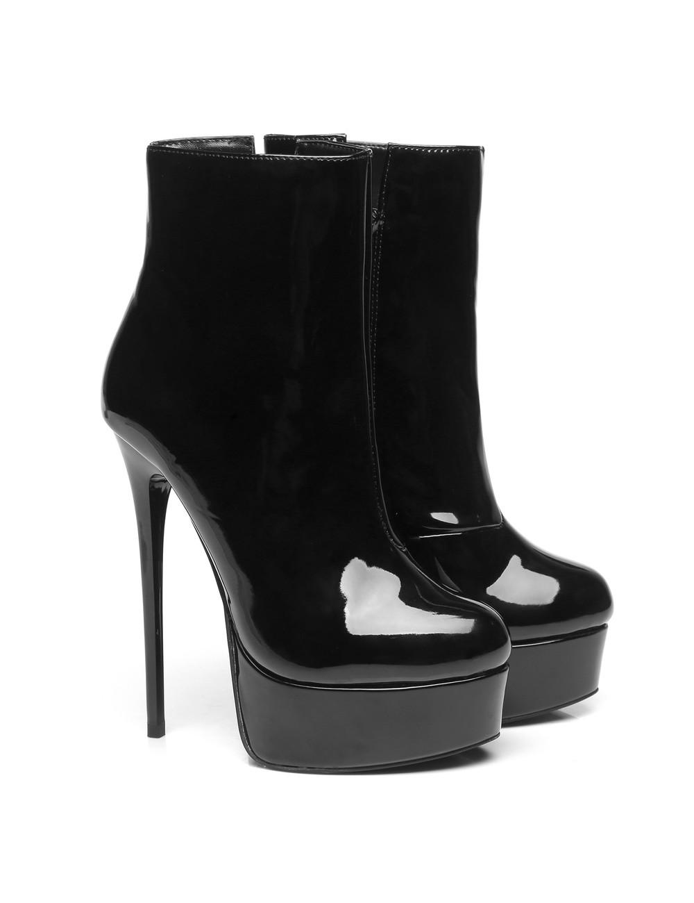 """Giaro Black Shiny Giaro """"Galana"""" ankle boots"""