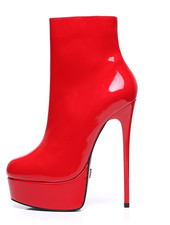 Giaro GALANA 1005 | RED SHINY | PLATFORM ANKLE BOOTS
