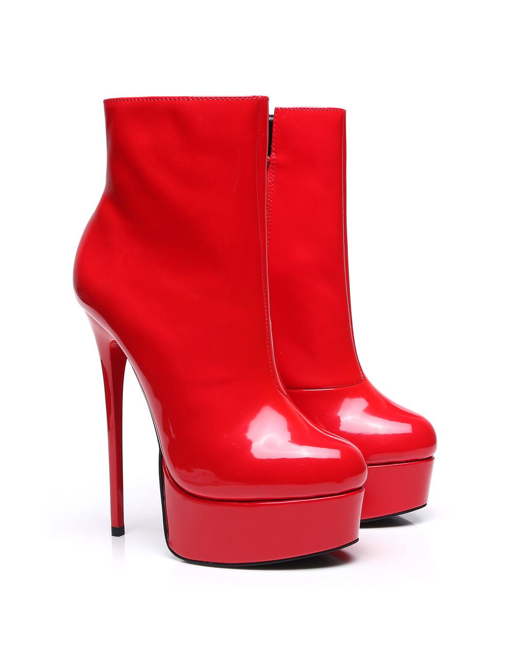 """Giaro Red Shiny Giaro """"Galana"""" ankle boots"""