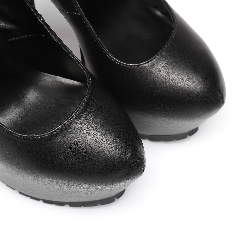 "Giaro Black  Giaro ""Profile"" platform pumps"