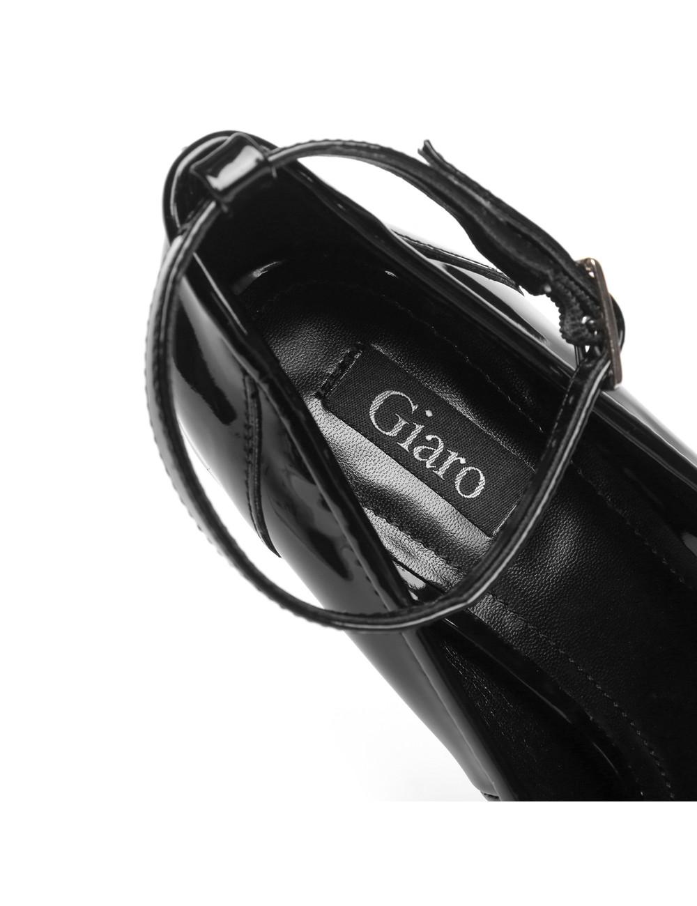 "Giaro Zwarte Giaro ""Profile"" platform pumps peeptoe"