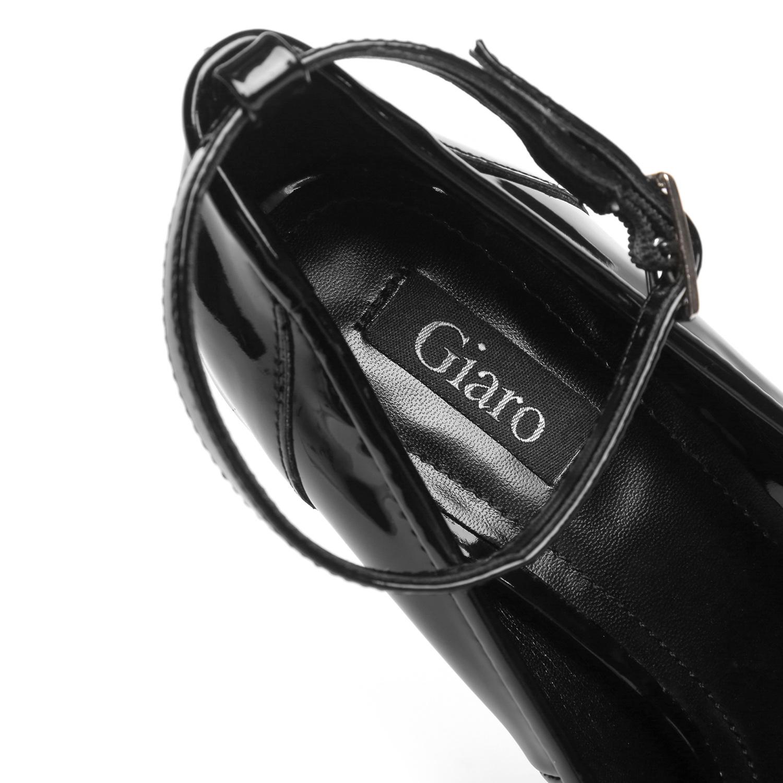 "Giaro Black  Giaro ""Profile"" platform pumps peeptoe"