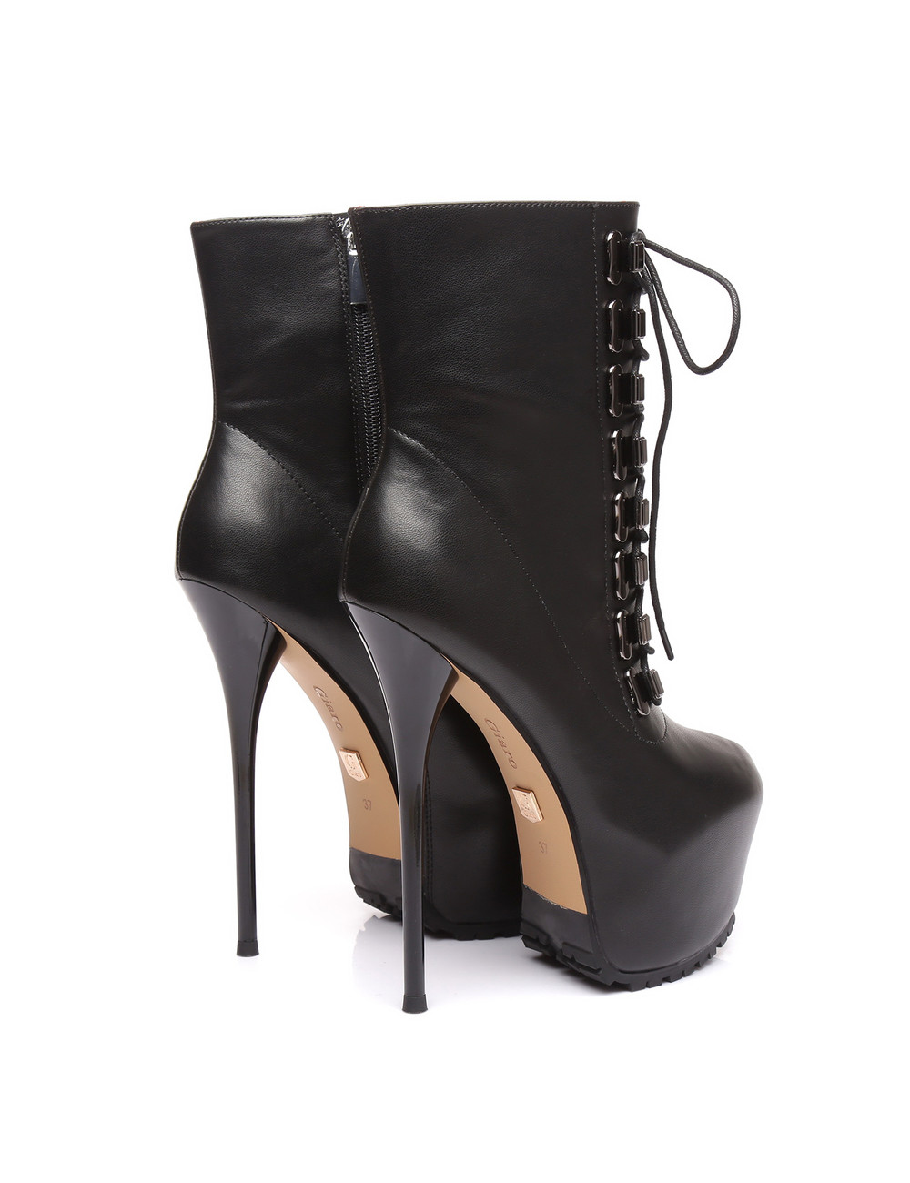 Giaro Giaro Hunt black matte lace-up ankle boots