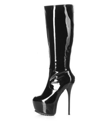 Giaro Giaro Cameron black shiny knee boots - back zipper