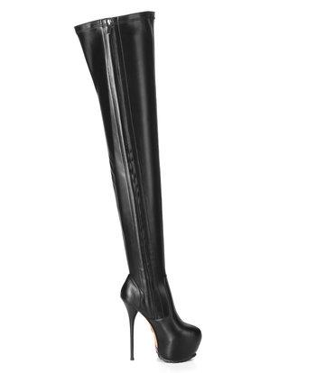 Giaro Giaro VIDA  black thigh boots profile soles