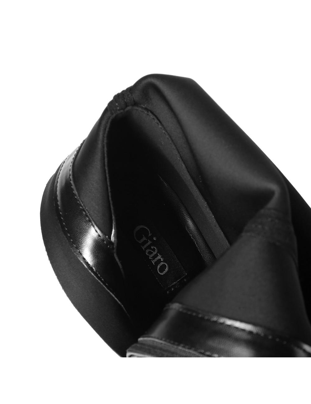 Giaro Giaro VIDA schwarze Oberschenkelstiefel Profilsohlen