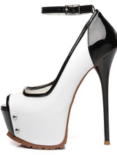 Giaro MADISON | WHITE-BLACK SHINY | PROFILE PUMPS