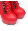 Giaro Giaro Hunt red matte lace-up ankle boots