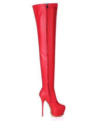Giaro Giaro VIDA  red thigh boots profile soles