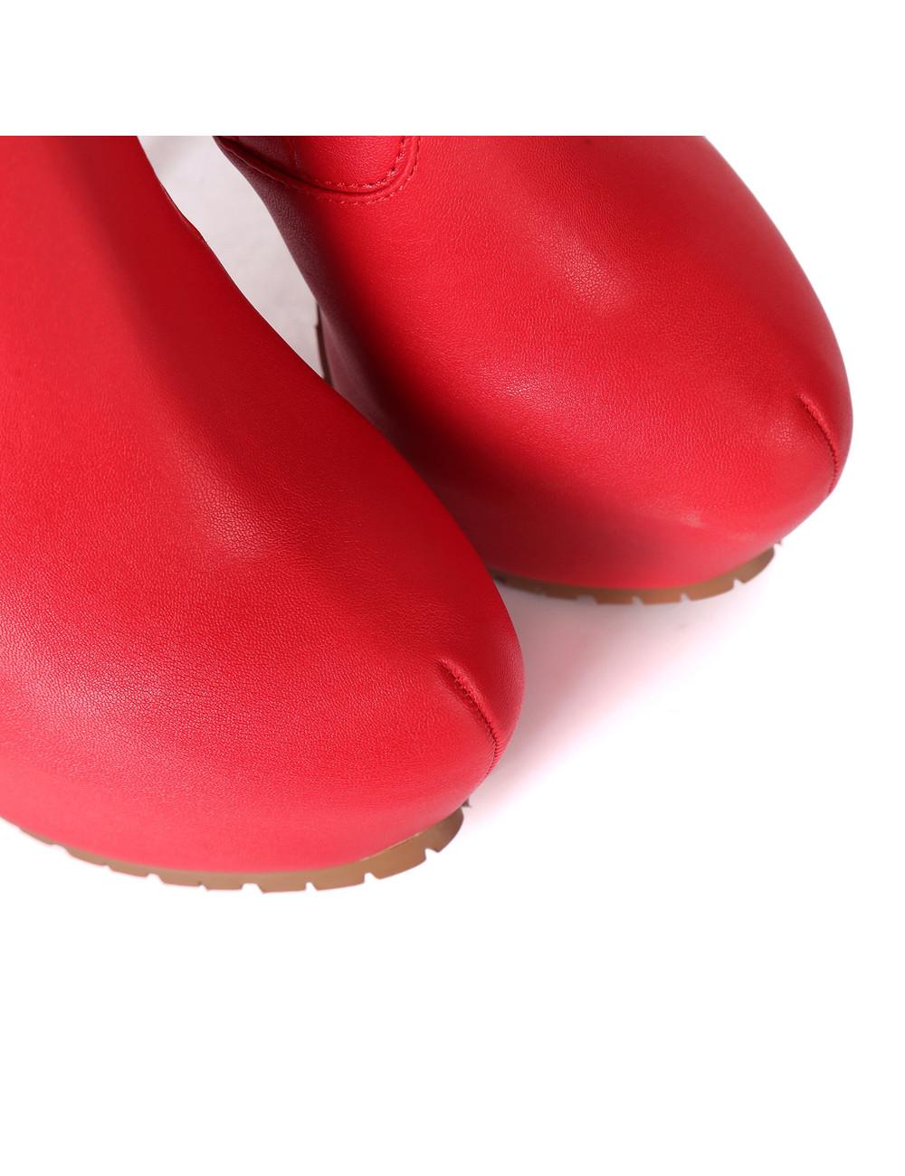 Giaro Giaro VIDA rote Oberschenkelstiefel Profilsohlen