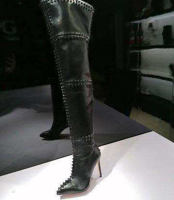 Giaro LUNA overknee laarzen met hoge hakken en veel studs