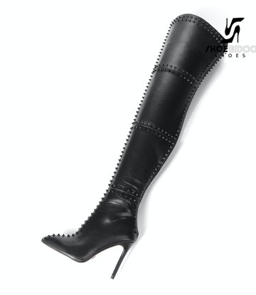 Giaro LUNA thigh high boots with high heels and lots of studs
