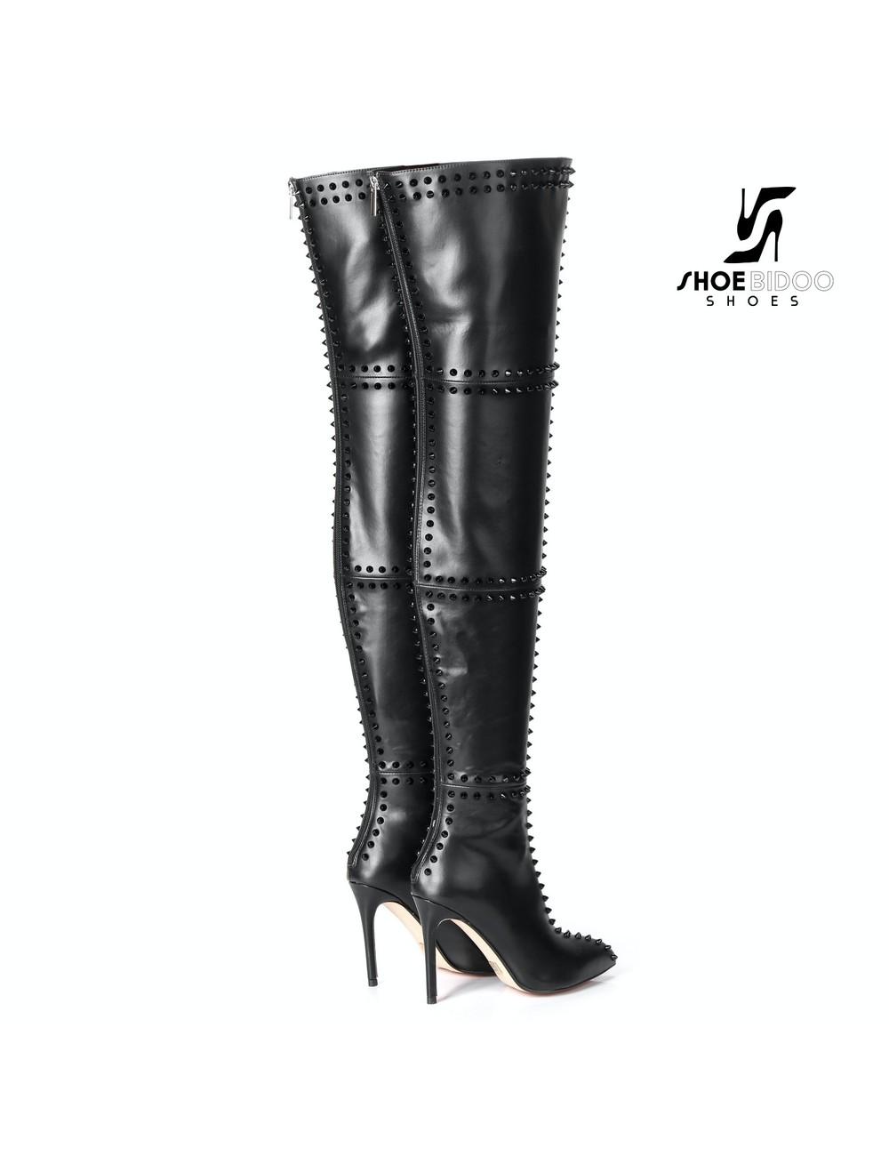 Giaro LUNA Overknee-Stiefel mit hohen Absätzen und vielen Nieten