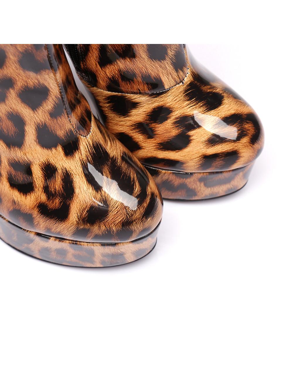 "Giaro Glänzende Leopard Giaro ""Galana"" Stiefeletten"