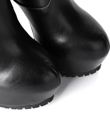 Giaro Giaro Cameron zwarte matte knielaarzen - ritssluiting aan de achterkant