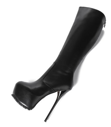 Giaro Giaro Cameron black matte knee boots - back zipper