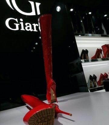 Giaro Giaro VIDA rode glanzende dijlaarzen profielzolen
