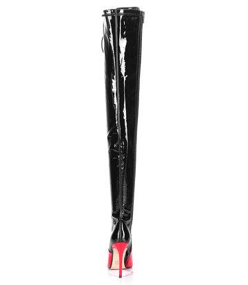 Giaro VERUSKA lange, hoch geschnürte, oberschenkelhohe Stiefel mit hohen Absätzen SCHWARZROT