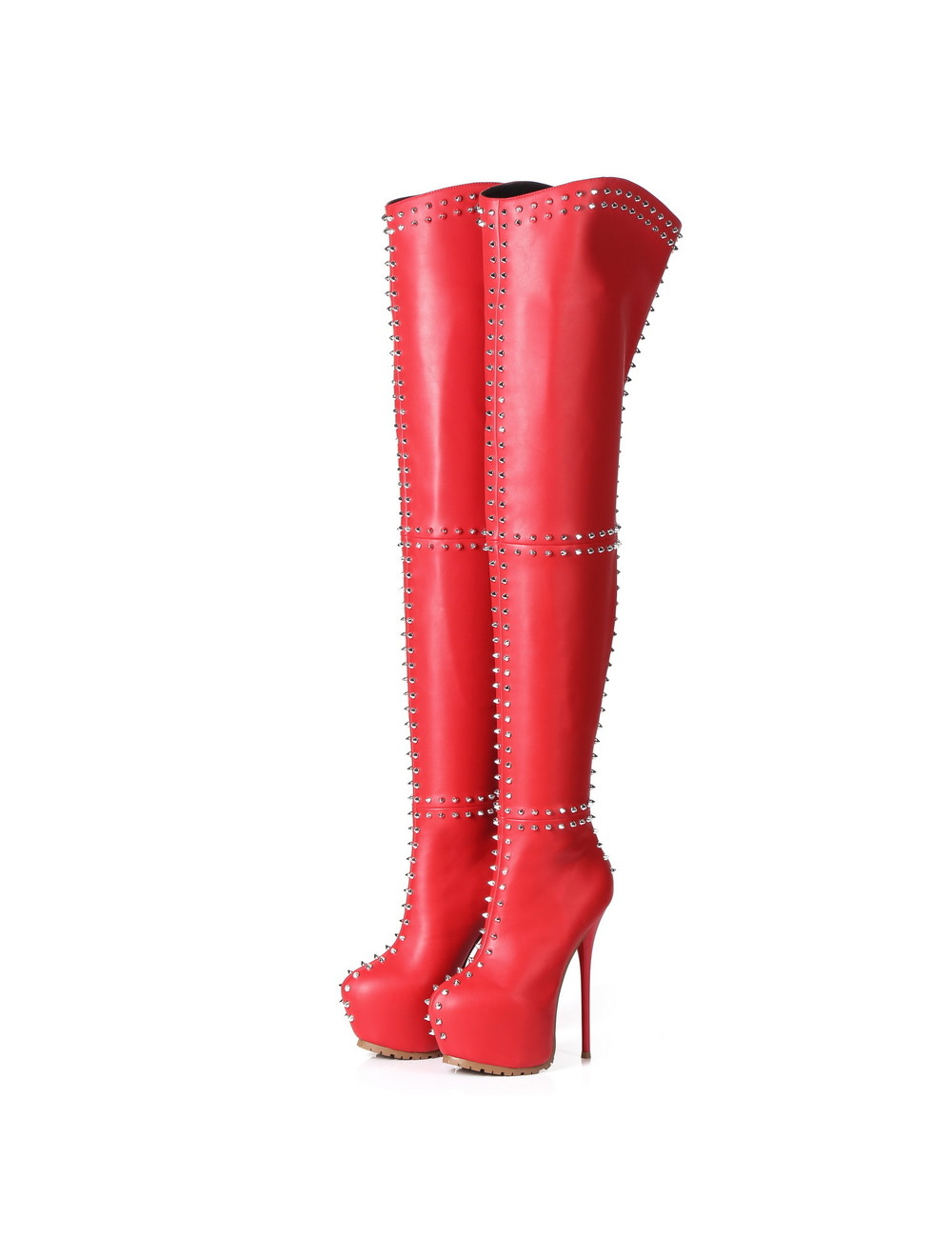 Giaro Giaro SOPHIA rood studded dijlaarzen profiel