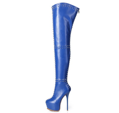 Giaro SOPHIA | BLUE |  PROFILE THIGH BOOTS