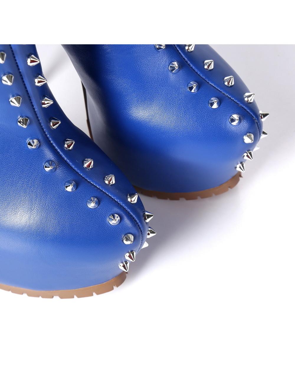 Giaro Giaro SOPHIA blau besetztes Oberschenkelstiefelprofil