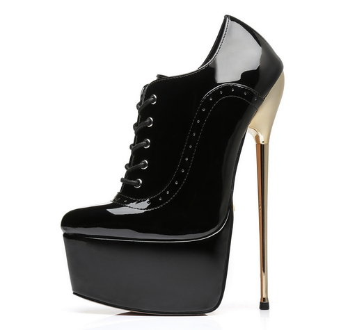 Giaro SLICK HERO HYP | BLACK SHINY | PLATFORM OXFORDS