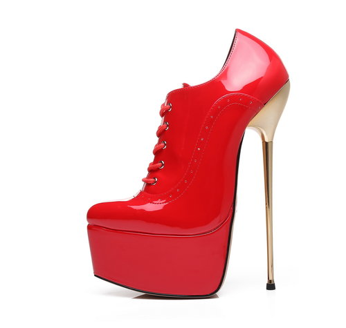 Giaro SLICK HERO HYP | RED SHINY | PLATFORM OXFORDS
