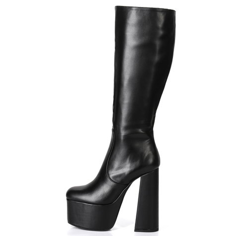 Ellie Tailor by Giaro EMMY 1003 | BLACK | PLATFORM KNEE BOOTS