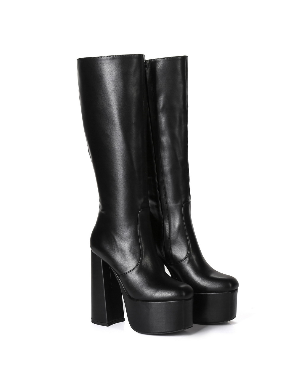"Giaro Black chunky heel ""Emmy"" knee boots by Ellie"