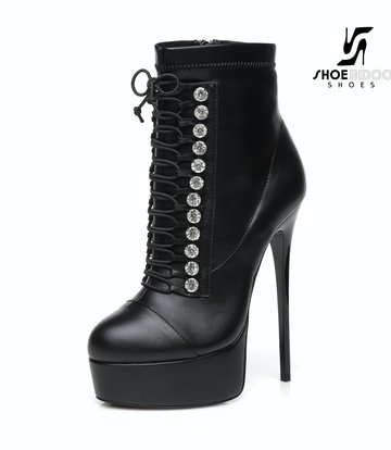 "Giaro Black Lace-up Giaro ""DAISIE"" ankle boots"