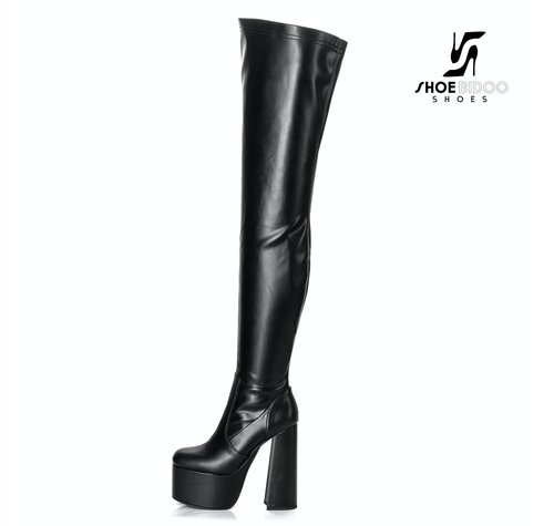 Ellie Tailor by Giaro ROOKIE | SCHWARZ | PLATTFORM THIGH BOOTS